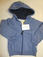 BNWT ~ THE KIDS STORE BOYS SIZE 4 HOODED JUMPER FLEECY BLUE ~ NEW