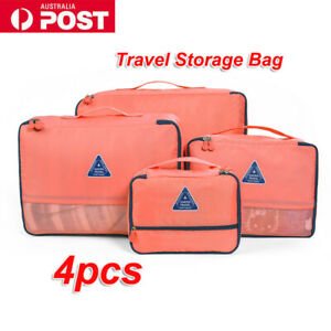4pcs travel packing cubes luggage organizer clothes shoes suitcase storage bags
