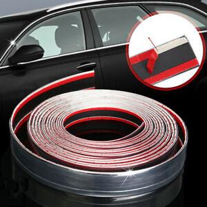2.5m*30mm Car Chrome Adhesive Strip Trim Molding Styling Exterior Trim Silver