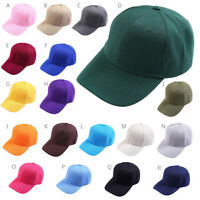 Adult Unisex Ponytail Messy Buns Trucker Plain Baseball Visor Cap Dad Hat