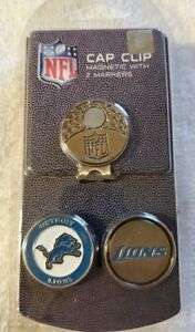 DETROIT LIONS Magnetic Cap Clip w/2 Ball Markers-By: Team Golf NIP