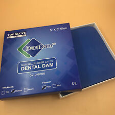 1 Kit Dental Rubber Dam Sheet Pure Latex Dura Dam 52 Pcs 55 Blue Small Size