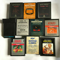 Atari 2600 10 Game Bundle / Cart & Manual / 7800 / Kung Fu Tennis SwordQuest #6