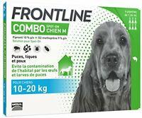 FRONTLINE Combo Chien - Anti-puces et anti-tiques pour chien - 10-20kg - 6  ...