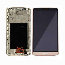 For LG G3 D855 D850 LCD Screen Display Touch Digitizer Glass Lens Frame Gold New