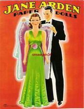 Vintage Uncut 1942 Jane Arden Paper Dolls~#1 Reproduction~Extremely Rare~Pretty!