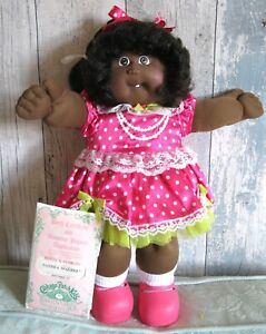 ❤️ Cabbage Patch Kid SANDRA MAUREEN 1986 Black Ethnic African Girl Doll Cert