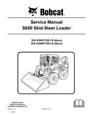 New Bobcat S650 Skid Steer Loader Service Repair Manual 2010 rev 890+pg 6987168