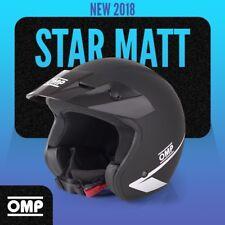 OMP STAR Helm 2018 Glanzloss Matt Schwarz JETHELM ABS ECE Offenes Rallye helme