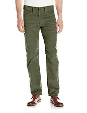 Levi's Mens 514 Straight Fit 5-Pocket Stretch Corduroy Pants 36x32 Green $59