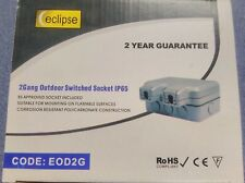 SGD Eclipse IP65 2 Gang Outdoor Weatherproof Switched Socket - 2 Year Guarantee
