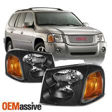[OE Style]For 2002-2009 GMC Envoy XL XUV SUV Black Bezel Headlight Lamp Assembly