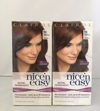 6 x Clairol Nice'n Easy NON-Permanent Hair Dye 94 Light Caramel/Brown
