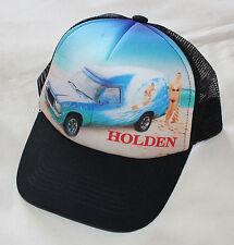 Holden HZ Sandman Seawitch Mens Black Printed Trucker Cap Hat One Size New