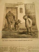 Litho 1868 - Aller au collège grace à ses parents sans le sou !