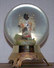 Vintage Eleco Glitter Globe,Made In Taiwan-Black Children-Angel-African American