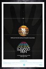 LOGAN'S RUN * CineMasterpieces ORIGINAL SCI FI MOVIE POSTER 1975 SCIENCE FICTION