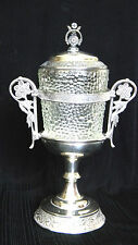 Antiquue VICTORIAN Jam & Honey or Pickle Castor in Very Unique Silverplate Stand