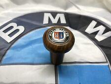 BMW E3 E10 E12 E21 NK Wood Gear Knob Transmission Schaltknauf Alpina Emblem