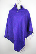 Woolen Poncho Coat Winter Wrap Cape Ponchos Handmade Nepal FAIRTRADE P11