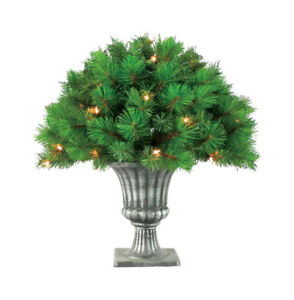 """NEW! GREENFIELD'S Prelit 24"""" Clear Topiary 35 Lights 169 Tips Victoria Tree"""