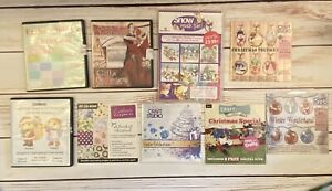 Bundle of 8 CHRISTMAS Design Paper crafting Card Making CD Rom Great Value Craft