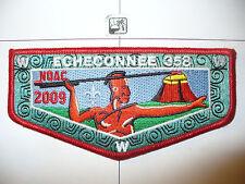 OA Echeconnee Lodge 358 S-31,2009 NOAC MSU,RED,Indian W/BLK Atlatl Flap,Macon,GA