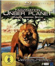 Faszination Unser Planet - Wunder unserer Natur (3 BRs) 10 Dokus. - NEU & OVP
