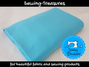 Sky Blue ~ Solid Plain Cotton Lycra Fabric Stretch Knit Fabric