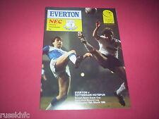1985/86 SCREEN SPORT SUPER CUP SEMI FINAL EVERTON V TOTTENHAM