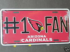 NFL Arizona Cardinals  1 Fan Metal License Plate dd0d993f904