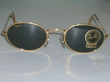 VINTAGE BAUSCH &  LOMB RAY BAN W0976 G15 GOLD PLATED OVAL AVIATOR SUNGLASSES NEW