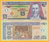 Guatemala 5 Quetzales p-new 2018 UNC Banknote