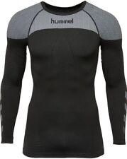 Hummel First Comfort LS Jersey T-shirt Uomo Nero M/l