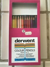 Vintage Derwent Colour Pencils Box of 36 Cumberland England 1936 Assortment Art