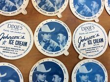 Vintage Dixies Ice Cream Lid Dixie Cup Johncox Dairy Whip Wilson & Andy Clyde