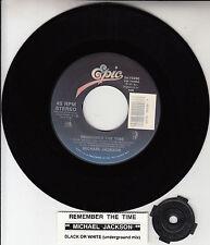 "MICHAEL JACKSON  Remember The Time 7"" 45 rpm record + juke box title strip NEW"
