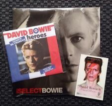 """DAVID BOWIE, iSELECT, LIMITED LP + HEROES, LIMITED 7"""" PARIS (SEALED)"""