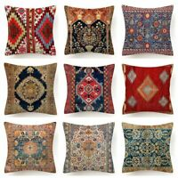 """18x18"""" Throw PILLOW COVER Tapestry Rug Print Decorative 2-Sided Bed Cushion Case"""