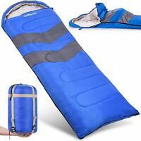 Abco Tech Sleeping Bag Lightweight Portable Waterproof Compression Sack 20F Blue