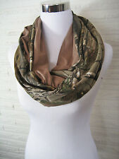 Taupe Brown Realtree Camo Jersey Knit Unisex Mens Womens Hunting Infinity Scarf