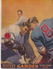 Montreal Canadiens beat New York Rangers 3/21/1954 Program + Tix + Xtras Richard