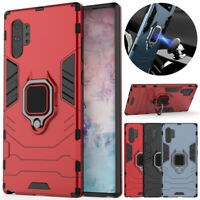 For Samsung Galaxy Note 10 S10 Plus 5G Case Ring Holder Hybrid Armor Stand Cover