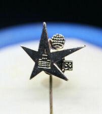 1958 World's Fair PIN Atomic Age VINTAGE Mid Century Modern MCM lapel PINUP hat