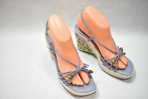 Apostrophe Shoes Sandals Wedge Heels Lavender Size 8 Women's New