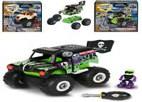 Monster Jam Machine Maker Remix Grave Digger Truck 3+ Toy Build Make Race Car