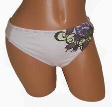 Swimsuit Bikini Bottom S Small White NEW Lucky Brand 4 6 Classic Purple 1625-S