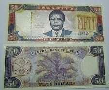 """BILLETE """"   LIBERIA   """"  50  DOLARES   AÑO  2011   UNC    PLANCHA"""