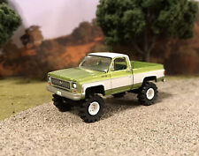 1973 Chevy K10 4x4 Truck Lifted 1/64 Diecast Custom Auto World Farm Square Body