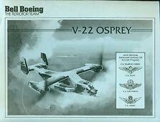 "V-22 OSPREY Tiltrotor Aircraft Bell Boeing (1980s) 8-1/2"" x 11"" B&W print  *"